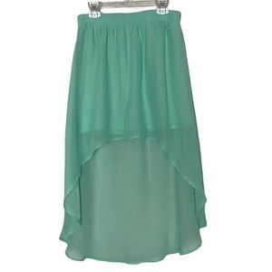 Forever 21 high low mini skirt Turquoise small